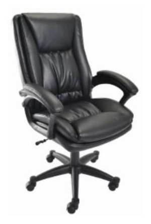 True Seating Concepts Black Bonded Leather fice Chair