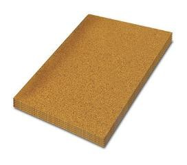 cork rolls are well known for their natural ability to be absorbent which is why it works well under hardwood floors or ceramic tiles