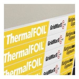 Gold Bond Brand ThermalFOIL Gypsum Board Is A Specialty Gypsum Board That  Is Laminated With A Perforated Foil Backing That Was Developed To Provide  R Value ...